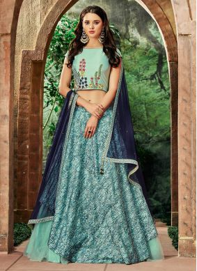 Magnificent Lace Blue Lehenga Choli