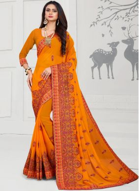 Majestic Embroidered Wedding Designer Saree