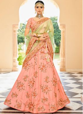 Majestic Patch Border Pink Lehenga Choli