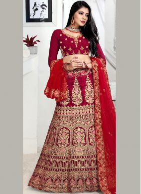 Maroon Color Lehenga Choli