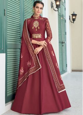 Maroon Party Gown