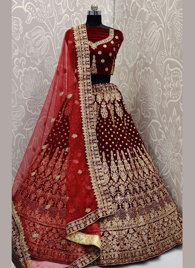 Maroon Party Trendy A Line Lehenga Choli