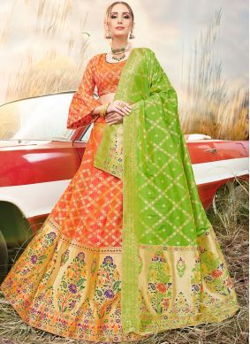Marvelous Banarasi Silk Embroidered A Line Lehenga Choli