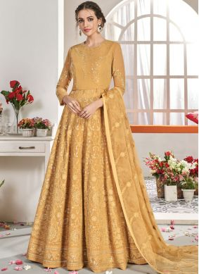 Marvelous Faux Georgette Embroidered Anarkali Salwar Suit