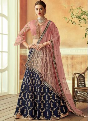 Marvelous Tafeta Silk Zari Lehenga Choli