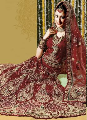 Mesmeric Net Wedding Lehenga Choli