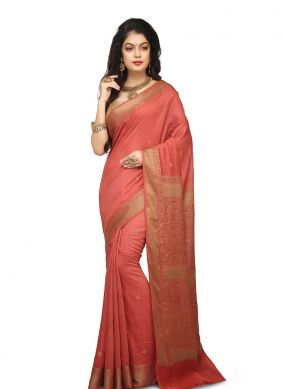 Mesmeric Pink Designer Traditional Saree