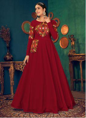 Mirror Georgette Floor Length Gown