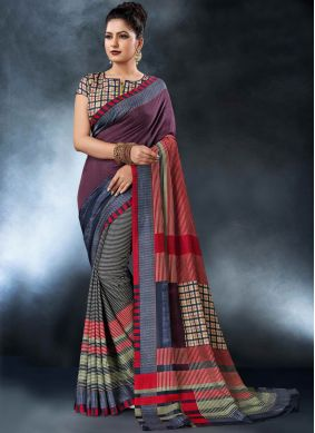 Modern Digital Print Printed Saree