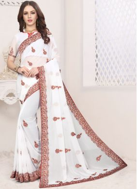 Modernistic Embroidered Classic Saree
