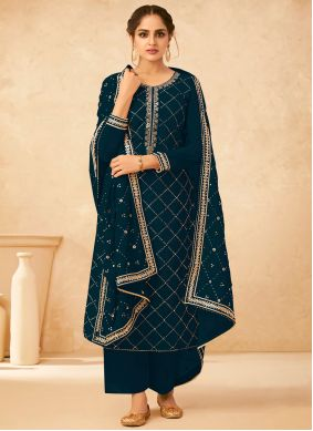 Morpeach  Embroidered Designer Palazzo Suit