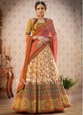 Multi Colour Art Silk Wedding Lehenga Choli