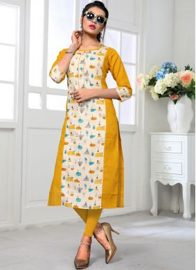Multi Colour Casual Cotton Casual Kurti
