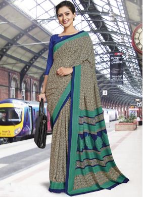 Multi Colour Casual Polly Cotton Casual Saree