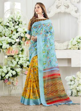 Multi Colour Casual Silk Silk Saree