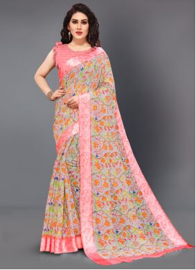 Multi Color Casual Saree