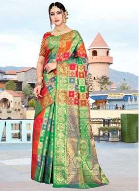 Multi Color Art Silk Classic Saree