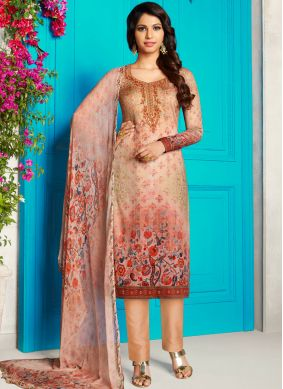 Multi Colour Cotton Satin Festival Churidar Designer Suit