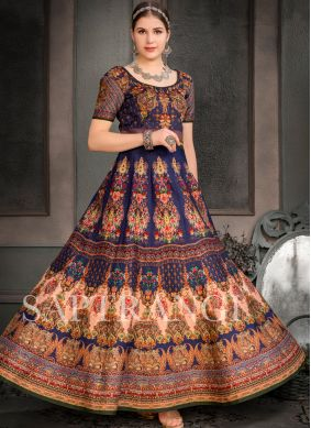 Multi Colour Designer Gown