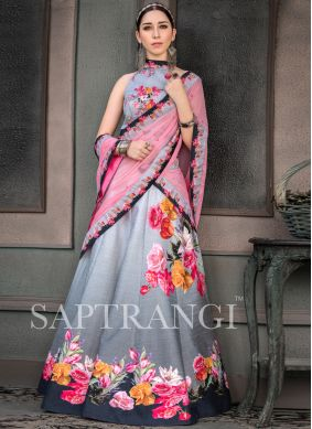Multi Colour Fancy Fabric Lehenga Choli