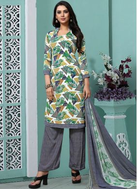 Multi Colour Faux Georgette Trendy Pakistani Salwar Kameez