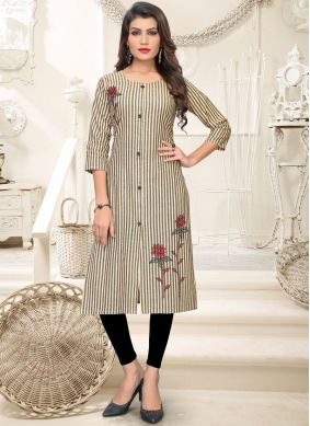 Multi Colour Festival Cotton Casual Kurti