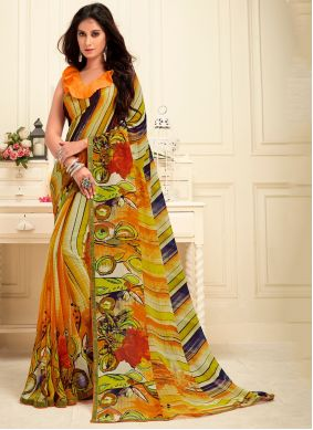 Multi Colour Festival Trendy Saree