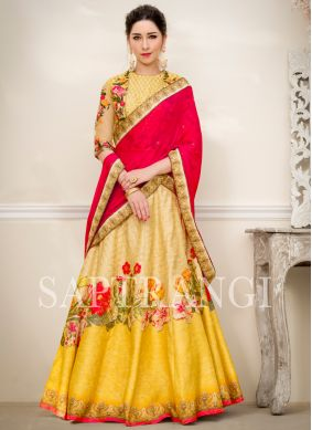 Multi Colour Lace Lehenga Choli