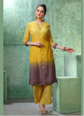 Multi Colour Party Casual Kurti