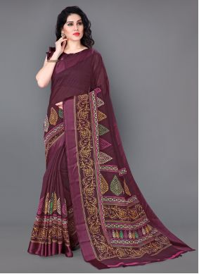 Multi Colour Party Cotton Designer Saree