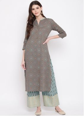 Multi Colour Party Cotton Party Wear Kurti