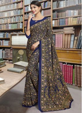 Multi Colour Polly Cotton Casual Saree