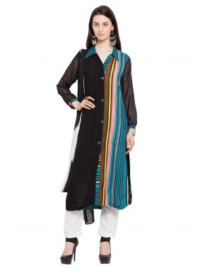 Multi Colour Printed Cotton Readymade Salwar Kameez