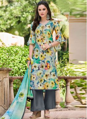 Multi Colour Printed Designer Salwar Kameez