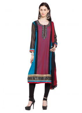 Multi Colour Reception Readymade Anarkali Salwar Suit