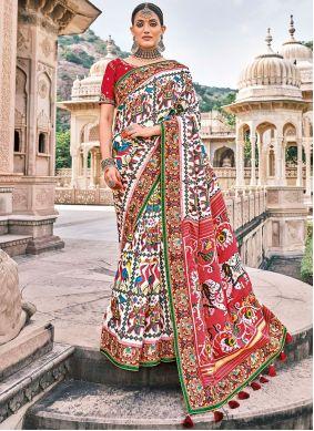 Multi Colour Silk Bollywood Saree