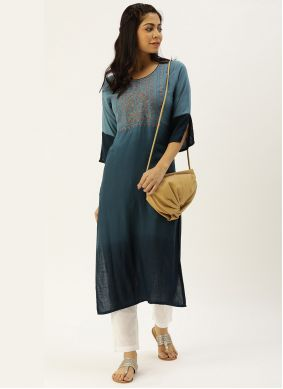 Multi Colour Viscose Casual Kurti