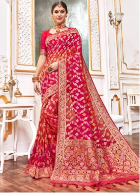 Multi Colour Weaving Contemporary Style Saree