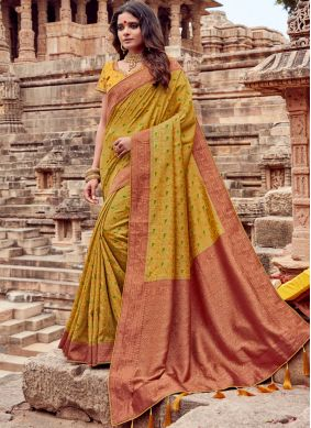 Mustard Ceremonial Classic Saree