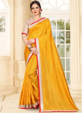 Mustard Festival Traditional Saree