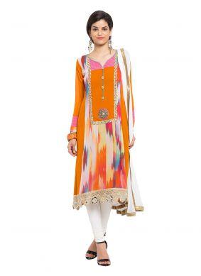 Mustard Readymade Anarkali Salwar Suit