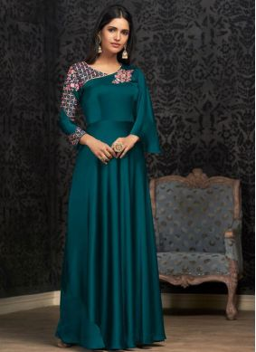 Mystical Georgette Readymade Designer Gown