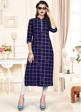 Navy Blue Color Designer Kurti