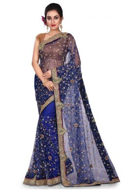 Navy Blue Color Designer Traditional Saree