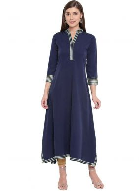 Navy Blue Fancy Party Wear Kurti