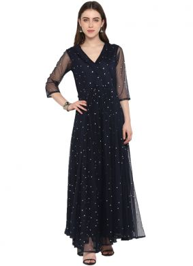 Navy Blue Festival Party Wear Kurti