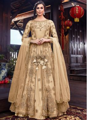 Net Embroidered Long Length Anarkali Suit