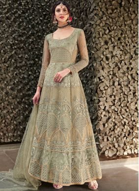 Net Green Designer Gown