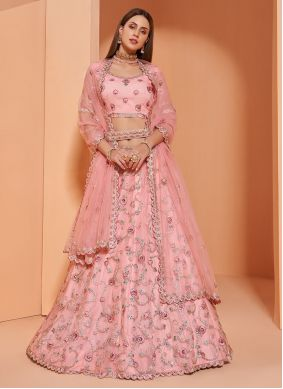 Net Pink Lehenga Choli