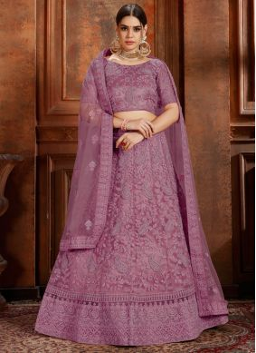 Net Purple Designer Lehenga Choli